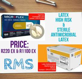 High Risk Latex Gloves and Sterile Antimicrobial