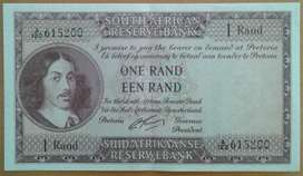 High grade 1962 almost uncirculated plus R1 note