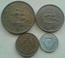 Set of x4 S.A 1951 coins in great condition