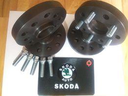 Проставки 15мм и 20мм Ауди Фольцваген Шкода адаптеры колесных дисков