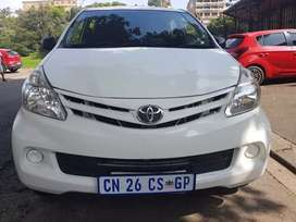 2013 Toyota Avanza 1.5 SX the car doesn't have seats at the back