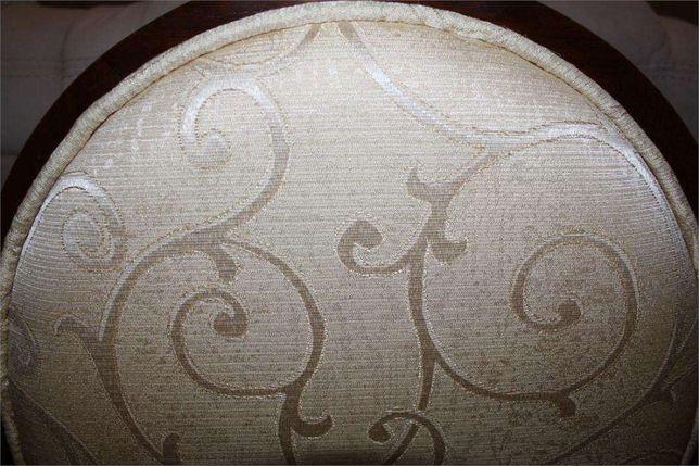 Krzesła krzesło klasyczne JFSC orzech ciemny tkanina ecrue żakard Góra Kalwaria - image 5