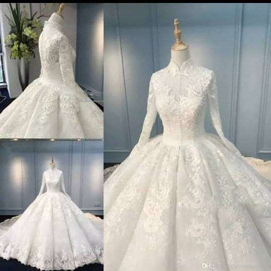 Empire wedding ball gown for sale 0