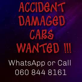 Smashed cars wanted today.