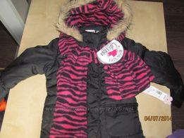 Куртка и шапка с шарфом набор от Pink Platinum 4-5лет