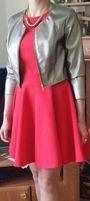 Sukienka JOLMAR roz.38 czerwona rozkloszowana
