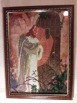 Продам картину бисером Иисус стучится в дверь