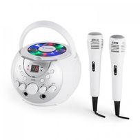 SingSing Przenośny zestaw karaoke LED Zasilanie bateryjne 2 x mikrofon