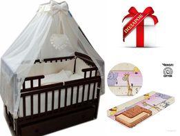 Акция! НАБОР Кроватка для новорожденного + постельное + МАТРАС В ПОДА