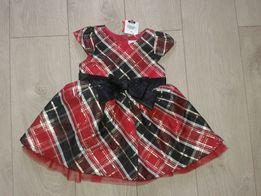 Sukienka Cool Club Smyk j HM 51015 Reserved swieta czerwona 68 prezent