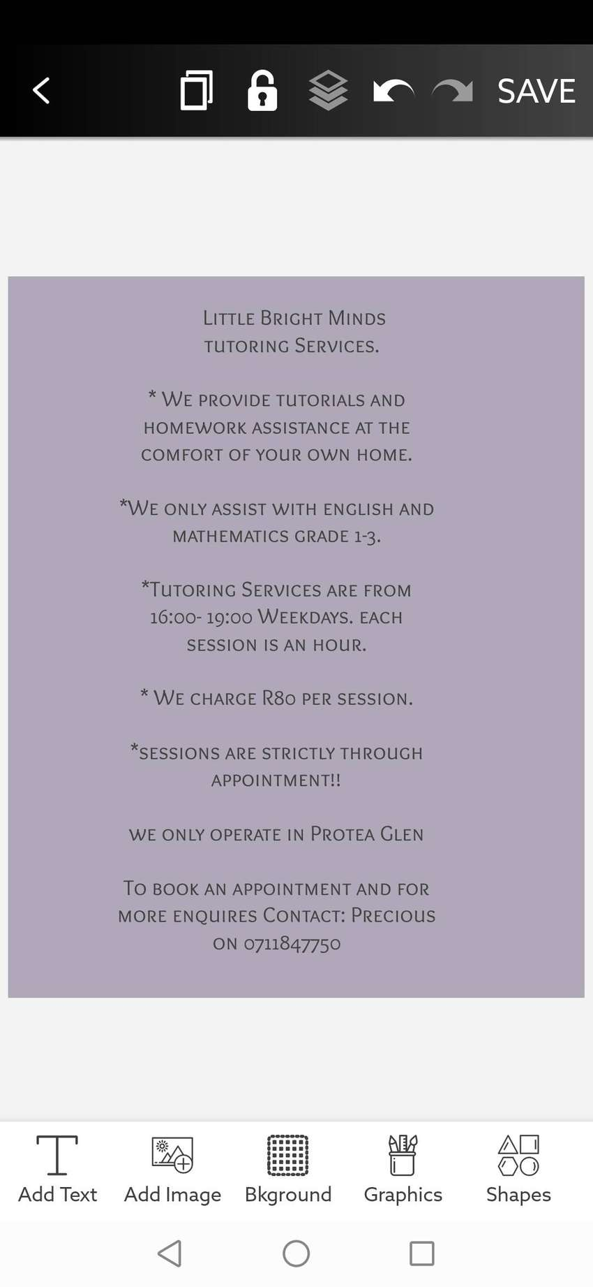 Bright Minds Tutoring Services