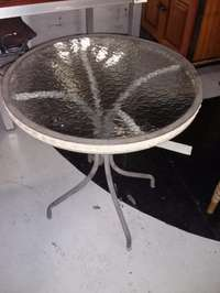 Image of Round glass table