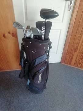 Spalding golf bag and golf clubs for sale
