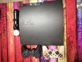 Ps 3 withe 25 games as well as 2 remote controls and one move remote
