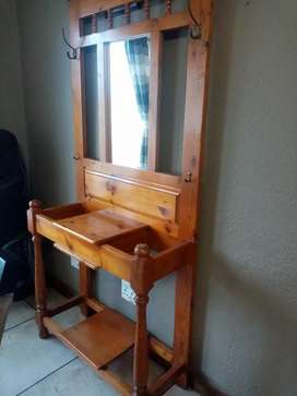 Vintage hallstand and telephone table
