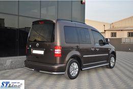 Боковые трубы d42 (2 шт., нерж.) Volkswagen Caddy 2004-2010 гг.