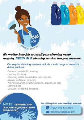 Cleaning services under R250