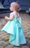 Нарядное, шикарное мятное платье для девочки на годик, фотосессию.
