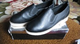 НОВЫЕ Кожаные туфли слипоны лоферы женские Sopra 38 р. Стелька 23.8 см