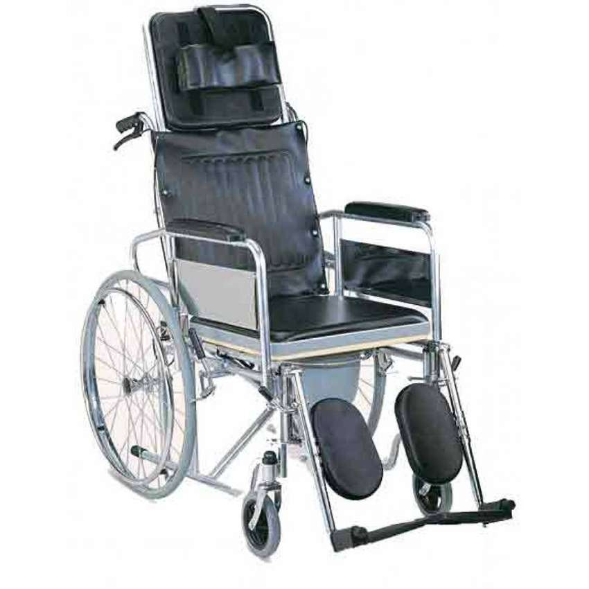 Reclining Commode Wheelchair 0