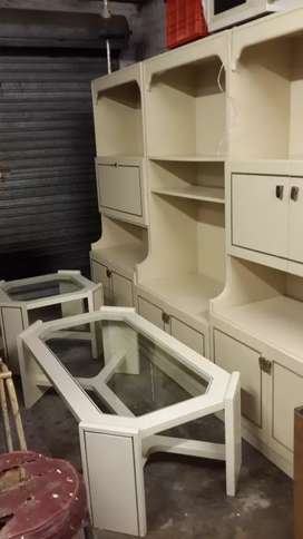 Three piece wall unit & coffee tables