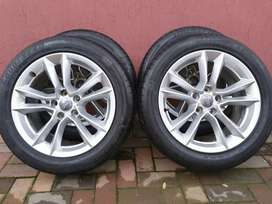 AUDI A5 OEM 17IN MAGS & TYRE'S 5X112