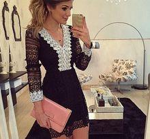 Sukienka koronka czarno biała S