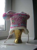 зимняя шапочка для девочки 1-2 года