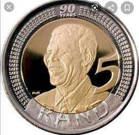 2008 Mandela Birthday R5 coins For Sale200