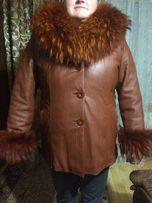 Женская кожаная куртка с натуральным мехом