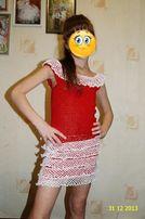 Продам вязаное летнее платье
