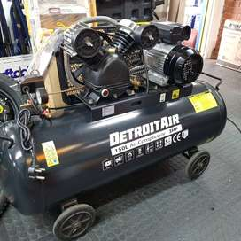 150L Detroit 3HP Compressor Single Phase , Belt Driven for Sale