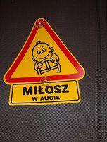 tabliczka dziecko w aucie - Miłosz w aucie - nowa