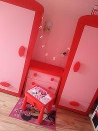 Bajkowe mebelki IKEA dziecięca meblościanka komoda stoliczek 2xszafa