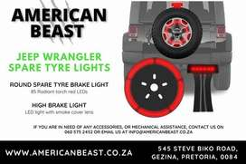 JEEP WRANGLER SPARE TYRE LED BRAKE LIGHTS 4X4 ACCESSORIES