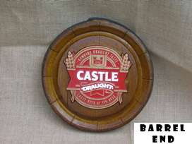 Castle Draught Barrel Ends Brand New Products.