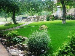 Газонная трава, ландшафтный дизайн, автоматический полив.