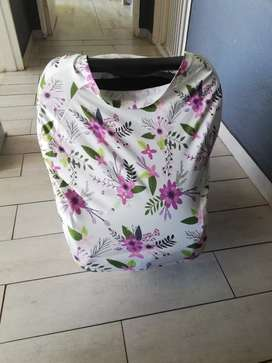 2-in-1 nursing cover and car seat cover