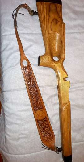 right hand wood rifle stock