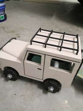 Wooden hand made toy cars