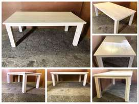 Patio table Chunky Cottage series 2000 Stained Antique white
