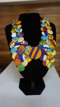 Image of Kente Buttoned necklace