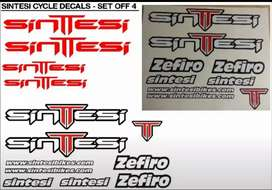 Sintesi bicycle frame stickers decals vinyl cut graphics kits