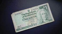 1 Funt Szkocki, Szkocja,wycofany z obiegu 1996r