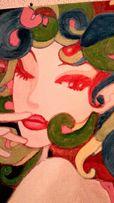 Интерьерная живопись: картина на холсте 40х50 натянута на подрамник. С