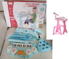 Kids Toys- Piano Drum Mic and speaker Funny Musical!