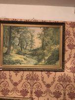 Репродукция картины на холсте в багетной рамке