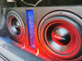 """7300w Monoblock and 2 x 12"""" 5000w dvc subs"""