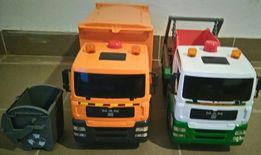 2 duże śmieciarki kosz na śmieci i kontener firmy CHAD VALLEY