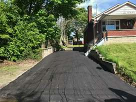 Tar domestic and industrial areas, complexes, estates & parking areas